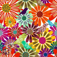 Brazil Floral designed by Anny Cecilia Walter, vector download available on patterndesigns.com Vector Pattern, Pattern Designs, Cultural Patterns, Wall Art Designs, Surface Design, Fabric Patterns, Floral, Bloom, Desktop Wallpapers