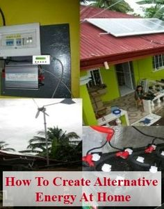 Learn How to Create Alternative Energy at Home - Energy companies are now encouraging home owners to generate their own electricity, and some of them are even offering discounts and rebates to people who create alternative energy to lower their usage from the local power company.