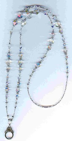 Beaded Jewelry by Bead Wizardry Designs: Beaded Eyeglass Chains, Beaded ID Lanya. Beaded Jewelry b Diy Jewellery Chain, Diy Jewelry, Beaded Jewelry, Jewelery, Beaded Necklace, Jewelry Making, Beaded Bracelets, Jewelry Necklaces, Lanyard Necklace