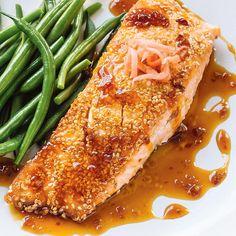 Saumon teriyaki | Ricardo Ricardo Recipe, Teriyaki Salmon, Cooking Classes, Fish Recipes, Healthy Eating, Cooking Recipes, Yummy Food, Ethnic Recipes, Easy Dinners