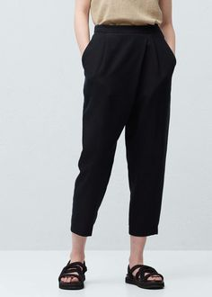 Baggy soft trousers -  Woman | MANGO Canada