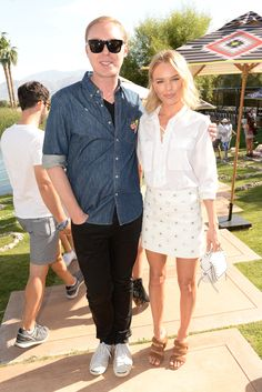 Stuart Vevers and Kate Bosworth at Coachella. [Photo by Steve Eichner]