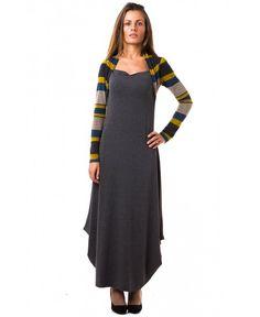 Дамска сиво/черна рокля от Hello