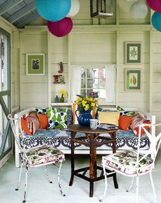Eclectic Porch Furniture Is Full Of Fun And Color!