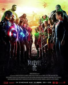 Marvel Vs DC #poster #avengersinfinitywar #justiceleague #batman #ironman #superman #spiderman #hulk #captainamerica #wonderwoman #comics #marvelvsdc