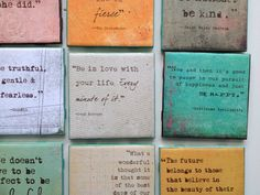 """Quote Art/Coaster (4x4)  """"Be in love with your life. Every minute of it.""""  -Jack Kerouac"""