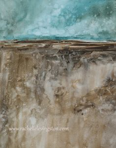 watercolor painting abstract painting abstract art print abstract PRINT modern artwork modern home decor landscape blue brown 11x14 on Etsy, $18.50