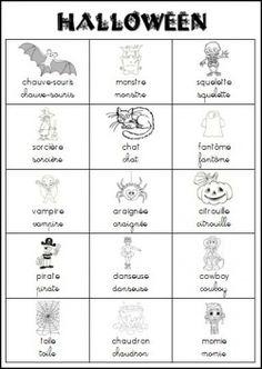 Halloween lexique