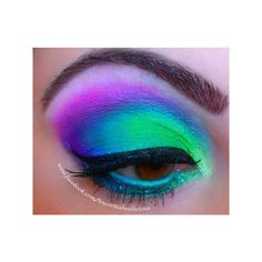17 Fabulous Neon Eye Makeup Ideas for Women via Polyvore featuring beauty products