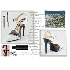 A fashion look created by Nura-Fashion featuring huner - Clutch 0037 with Dark Blue Handle, After Midnight Mascara Limitless Mascara, Decorte Eye & Lip Make-Up oz. Browse and shop related looks. Fashion Show, Fashion Looks, Fashion Trends, Red Carpet Event, Haute Couture Fashion, Golden Globes, Women's Shoes, Dark Blue, Celebrities