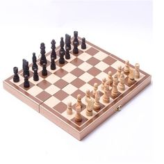 Folding Wooden Chess Portable International Chess