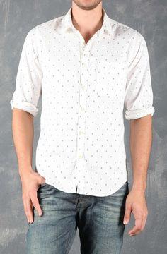 Tennis - Camisa masculina tipo Oxford, estampada.
