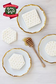 Homemade Holiday Gift Idea!: Make Organic Honeycomb Soap — 2014 HOMEMADE HOLIDAY GIFT IDEA EXCHANGE: PROJECT #6