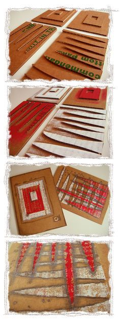Art Tutorial - Collograph Printmaking #recycle
