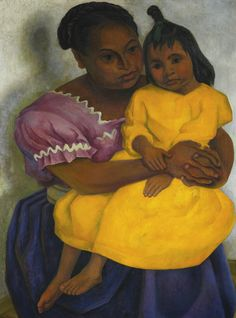 Diego Rivera - Mother and Child - 1939 Diego Rivera Art, Diego Rivera Frida Kahlo, Frida And Diego, Mexico Art, Street Art, Mexican Artists, Z Arts, Popular Art, Mother And Child