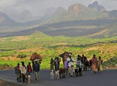 Villagers in Tigray...a very common sight driving through northern Ethiopia.