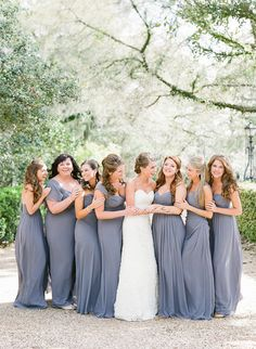 slate blue bridesmaid dresses | Chelsey Boatwright #wedding