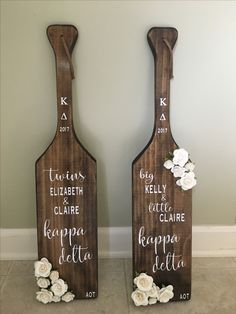 Kappa delta big little paddles!