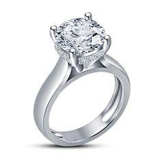 Heart Shape D//VVS1 Solitaire Wedding Ring 14k White Gold Finish 925 Sterling