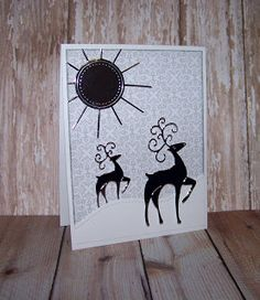 Ann Greenspan's Crafts: Silver and White Christmas card