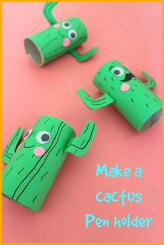 how to make a cactus pen holder