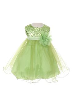 581fd5337a1 Sequined Bodice with Double Tulle Skirt Flower Girl Dress