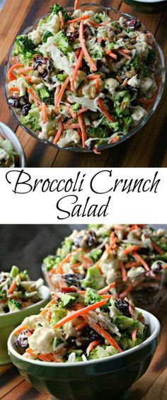 Broccoli Crunch Salad is a great way to get the veggies you need and them taste good too. So easy to make and can go with just about anything. | broccoli crunch salad | broccoli salad | broccoli coleslaw | Broccoli slaw | gluten free | paleo recipes | paleo | slaw recipe | vegetarian recipe |