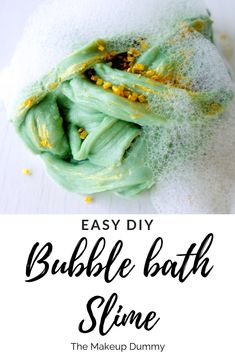 In this easy recipe I show you how to make Slime with Bubble bath and other ingredients you probably already have at home! Homemade Slime, Homemade Soap Recipes, Diy Slime, How To Make Slime, How To Make Diy, Homemade Beauty, Diy Beauty, Beauty Soap, Slime For Kids