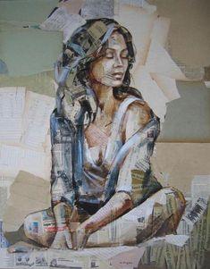 Name: Carme Magem L'art Du Portrait, Collage Portrait, Abstract Portrait, Portraits, Art Inspo, Kunst Inspo, Paper Collage Art, Collage Art Mixed Media, Journal D'art