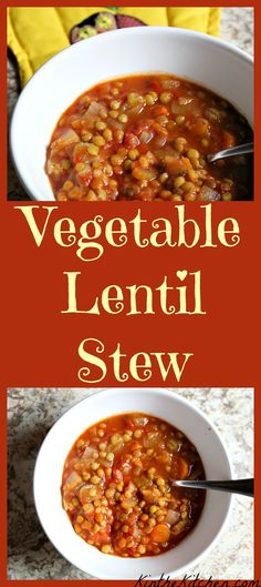 Comforting and delicious, this vegetarian Lentil Stew is hearty and great for chilly days!