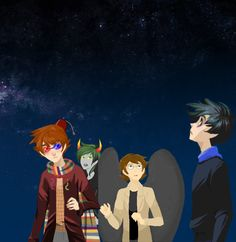 Doctor who fandom, Homestuck fandom, Supernatural fandom and Sherlock fandom. // THERE SHOULD BE A WHOSTUCK CROSSOVER where Sollux and Ten get into an argument over the glasses.