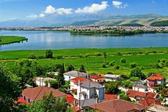 Ioannina city and lake,Epirus,Greece.