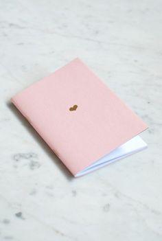 Buy Studio Sarah Heart Notebook - Pocket (11x15cm) - Plain - NoteMaker Stationery
