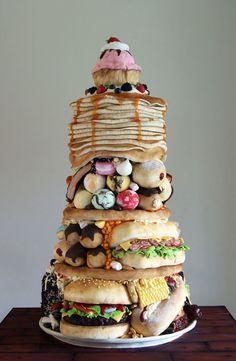 cake-design-idée-décoration-gâteau-gros-mangeur