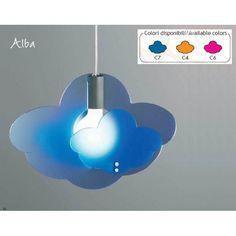 LAMPADA SOSPENSIONE ALBA  CODICE: 840    Lampada a sospensione a luce diffusa.  Diffusore in metacrilato in vari colori con struttura in metallo verniciato nichel.  Diffusori disponibili nei colori:  - blu (C7)  - arancione (C4)  - fucsia (C6)    La lampada viene fornita sprovvista di lampadina  Il colore va specificato al momento dell'acquisto.    Dimensioni: 45X14X120h cm.  Lampadina consigliata: 1 X 100 Watt attacco E27 -1 X 60 Watt attacco E27 -1 X 20 Watt atttacco E27  Tempi di...