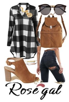 """""""ROSEGAL.COM"""" by treasury ❤ liked on Polyvore featuring ASOS, Hollister Co., BAGGU and Illesteva"""