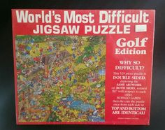 Worlds Most Difficult Jigsaw Puzzle Golf Edition 529 Piece 2 Sided Sealed New #BuffaloGames