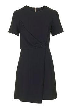 Drape Shift Dress