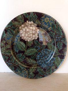 Handmade Decorative Decoupage Plate  Hydrangeas by LaDolfina, $10.00
