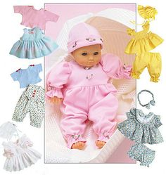 DOLL CLOTHES PATTERN  Sew for Bitty Baby  Bitty by WhatCameFirst, $6.99
