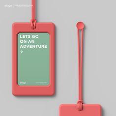 elago Luggage Tags - Italian Rose. Business Branding, Business Cards, Design Seeds, Environmental Design, Keep It Simple, Id Badge, Badges, Branding Design, Logo