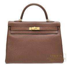 Hermes Kelly Bag 35 Retourne Brulee Togo Leather Gold Hardware from Discountpluss for $20,500.00 on Square Market