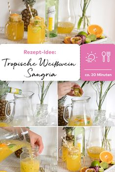 Fancy Drinks, Summer Drinks, Cocktail Drinks, Alcoholic Drinks, Cocktails, White Wine Sangria, Dessert Cake Recipes, Sprout Recipes, Snacks Für Party