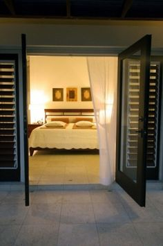 Tropical Bathroom Design, Pictures, Remodel, Decor and Ideas - page 5 Tropical Bedrooms, Tropical Bathroom, French Doors Patio, Patio Doors, Balcony Doors, Entry Doors, Master Bedroom Design, Master Bedrooms, Master Suite