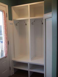 DIY built-in lockers