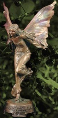 Chatelaine Garden Color Fairy Statue (On Metal Gazing Ball) | Gardens |  Pinterest | Fairy Statues, Fairy And Gardens