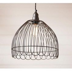 Petal Cage Black Pendant This cage pendant light has a 'petal' look to it and is in a smokey black color. It is wire with one standard socket of 150 watts maximum. This light comes of black clutch Farmhouse Lighting, Rustic Lighting, Sconce Lighting, Kitchen Lighting, Lighting Ideas, Primitive Lighting, Rustic Chandelier, Wall Lighting, Vintage Lighting