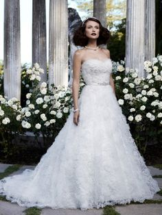 Luxury Princess Sweetheart Lace Brush Train Wedding Dress , wedding dress