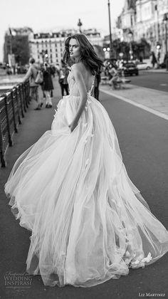 liz martinez 2018 bridal sleeveless v neck ruched bodice lightly embellished bodice tulle skirt romantic a line wedding dress open back chapel train (1) bv -- Liz Martinez 2018 Wedding Dresses