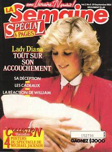 FRENCH QUEBEC MAG 1984 PRINCESS DIANA MICHAEL JACKSON